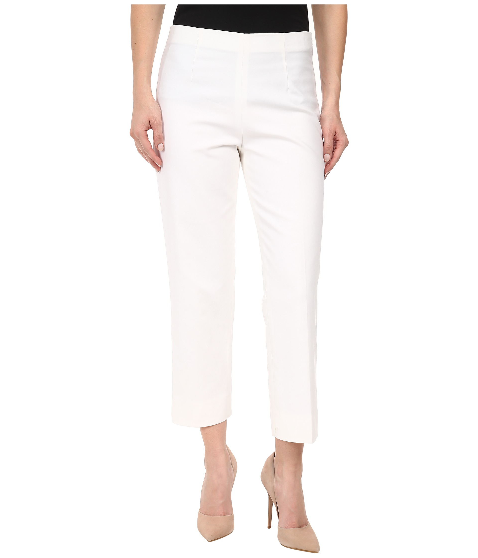 Nic+zoe Petite The Perfect Pant Side Zip Ankle in White ...