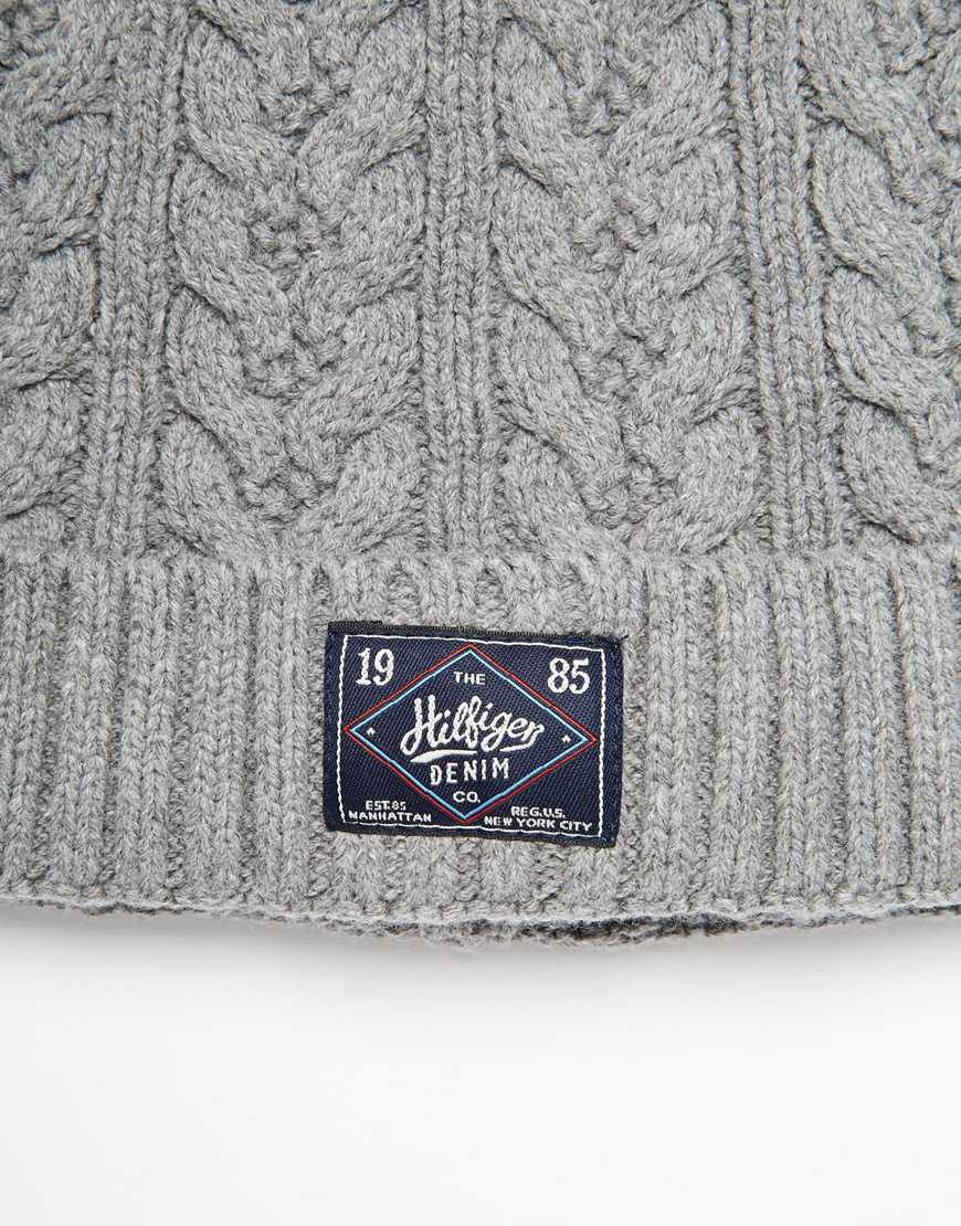 783ba676e84 Lyst - Tommy Hilfiger Fargo Beanie Hat in Gray for Men