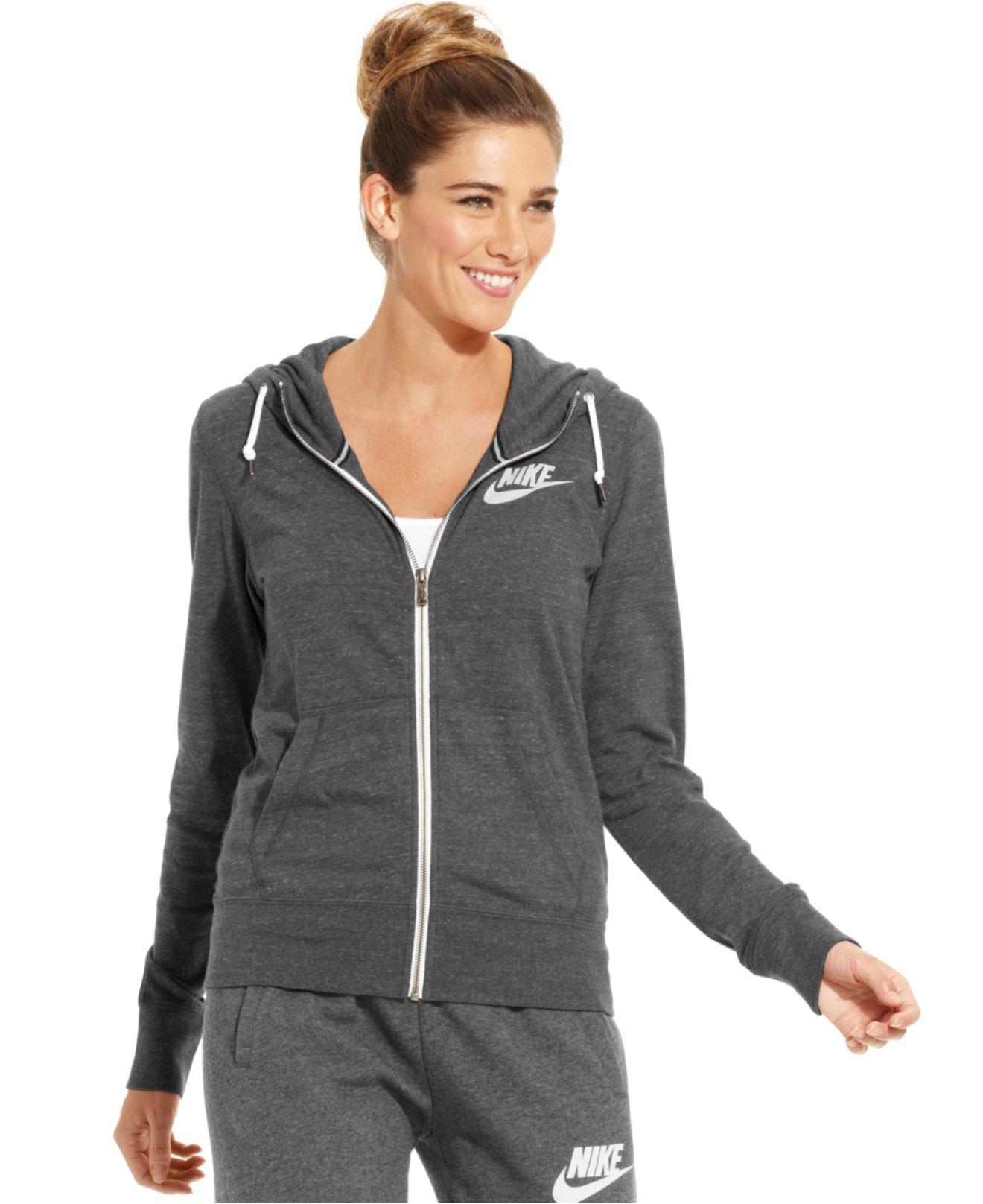 Nike Long-sleeve Gym Vintage Hoodie in Gray | Lyst