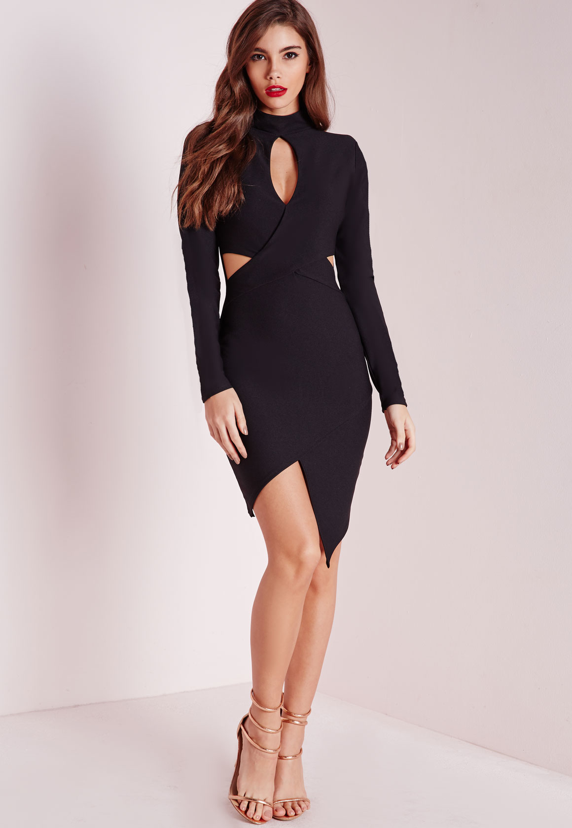 Looks - Sleeve Long cut out dress pictures video