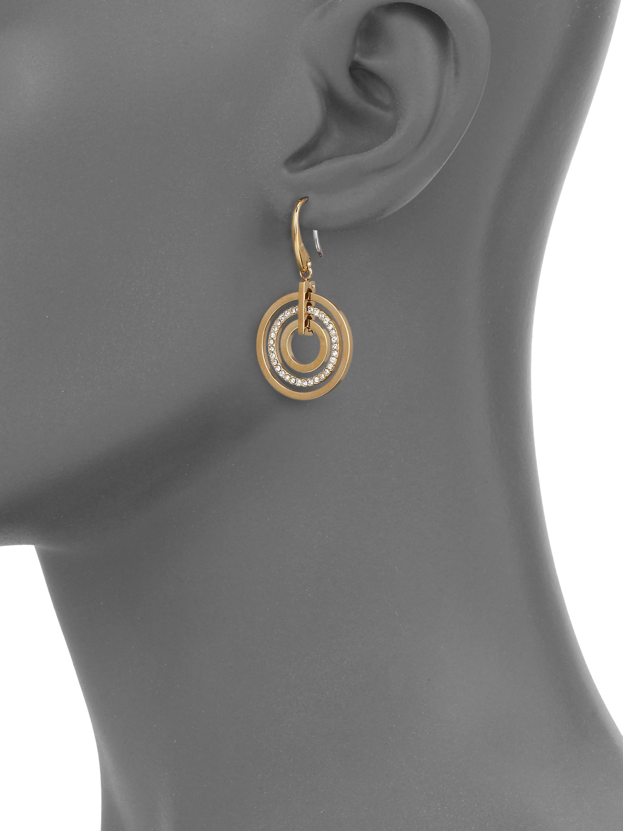 cb11a0f1b Michael Kors Brilliance Statement Pavé Nested Circle Drop Earrings ...
