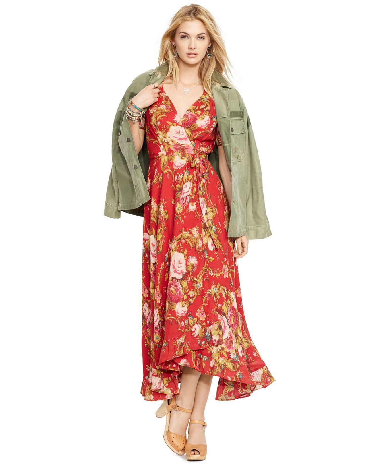 Lyst Denim Amp Supply Ralph Lauren Floral Print Wrap Dress