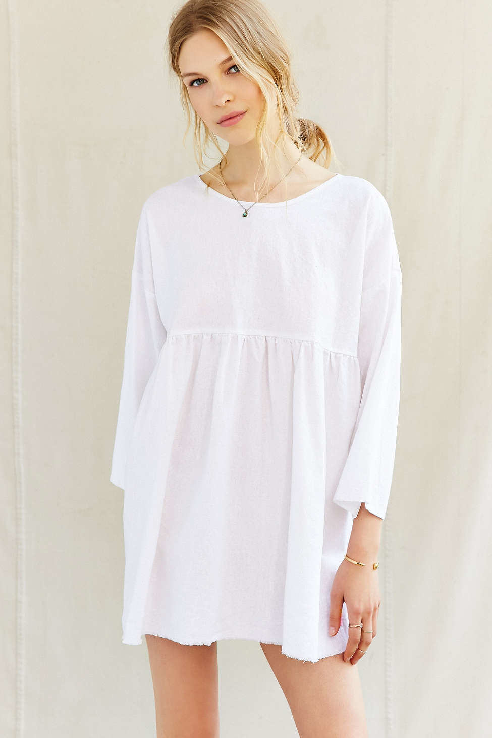 857a34fe9627 Gallery. Previously sold at  Urban Outfitters · Women s Babydoll Dress  Women s White Linen ...