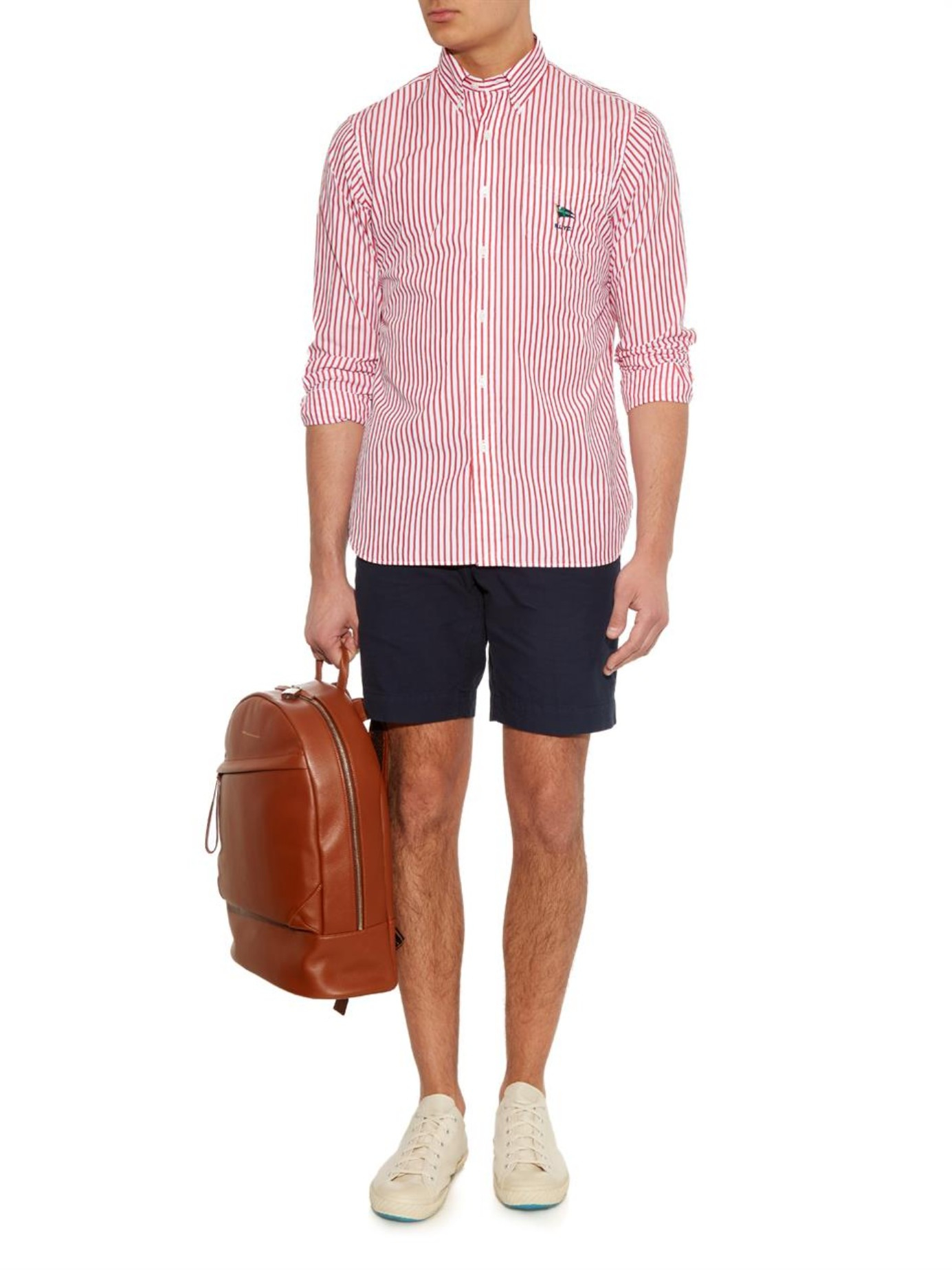 Polo ralph lauren Custom-fit Striped Cotton Shirt in Red ...