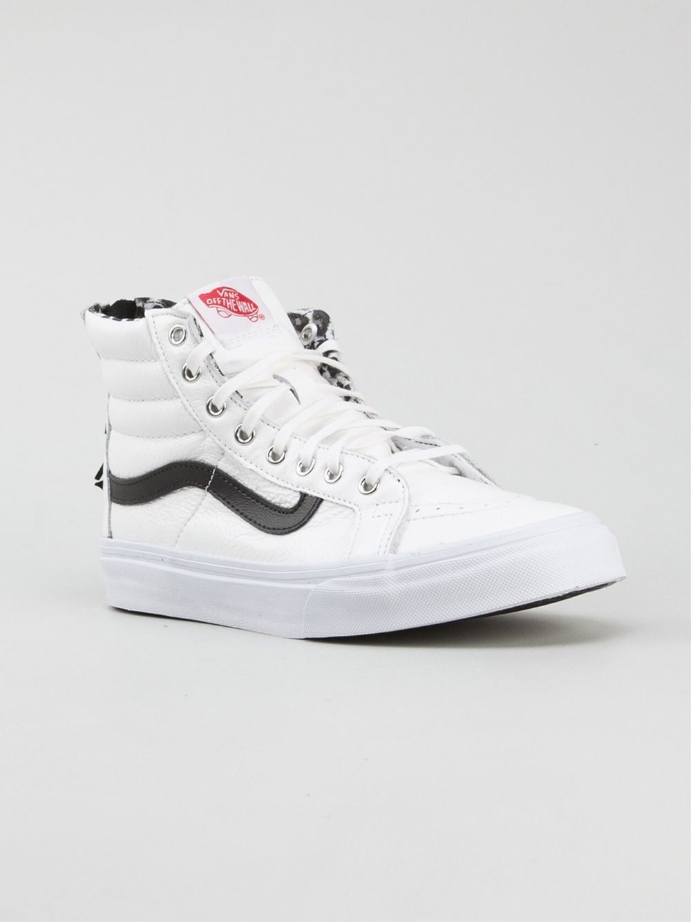 b5326021cf Lyst - Vans  Sk8-Hi Slim Zip  Trainers in White