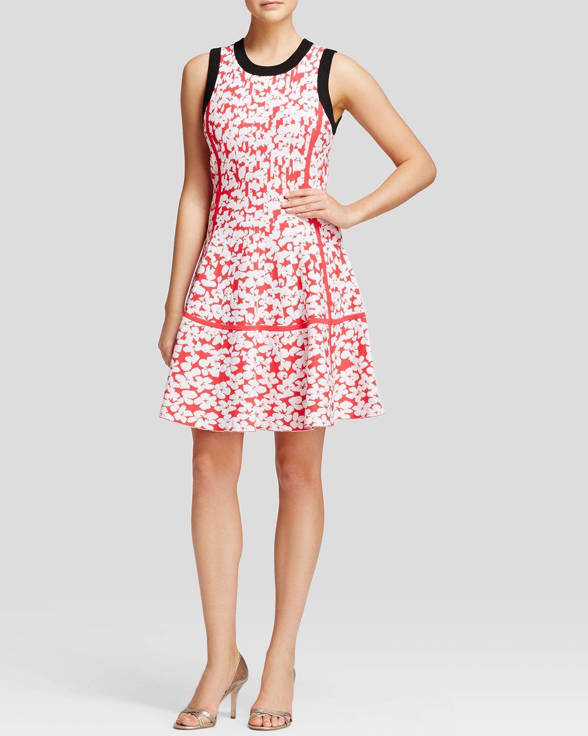 Lyst Kate Spade Floral Jacquard Dress In Black