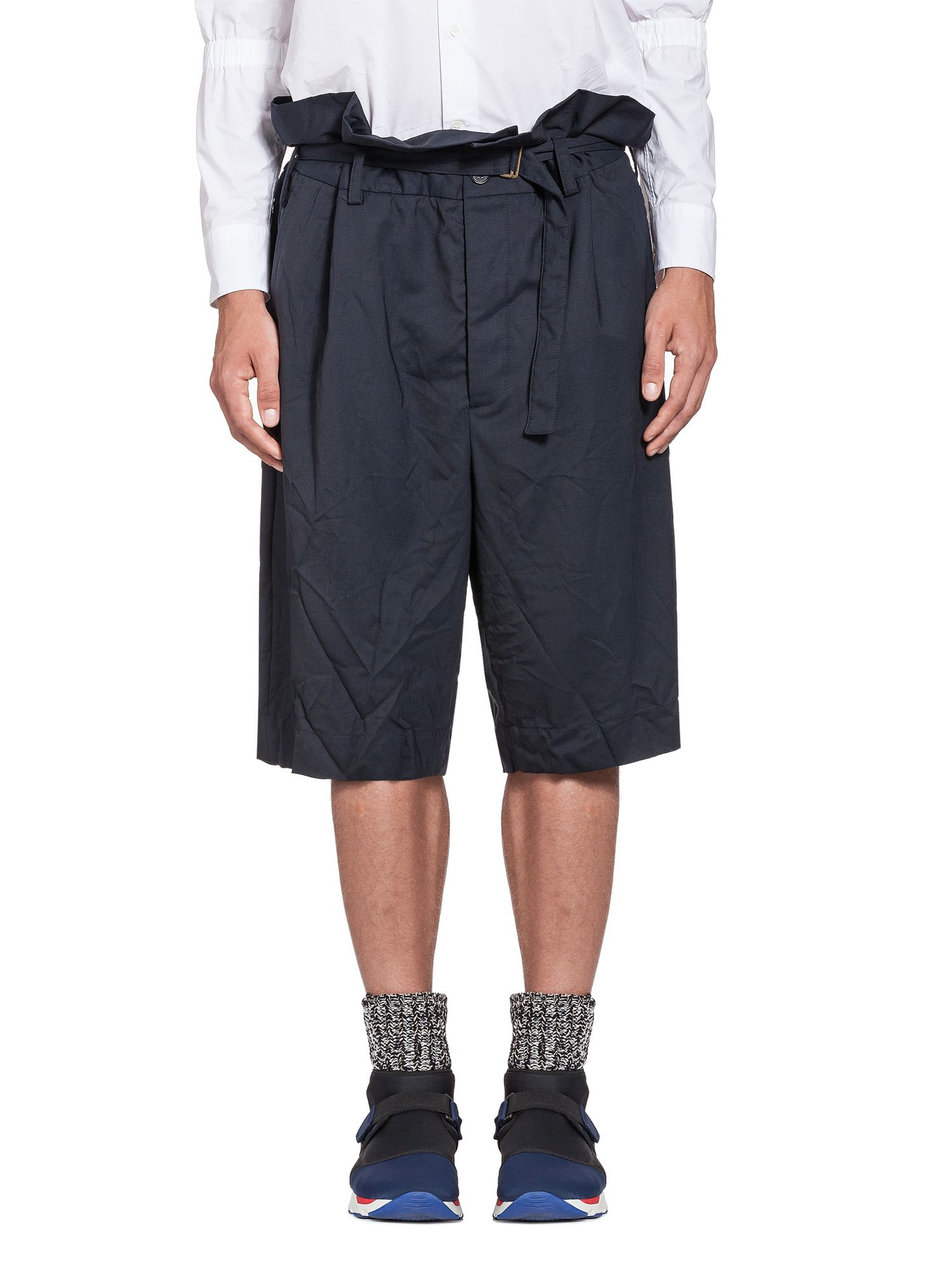 Lyst Marni Oversize Bermuda Shorts In Tropical Wool In