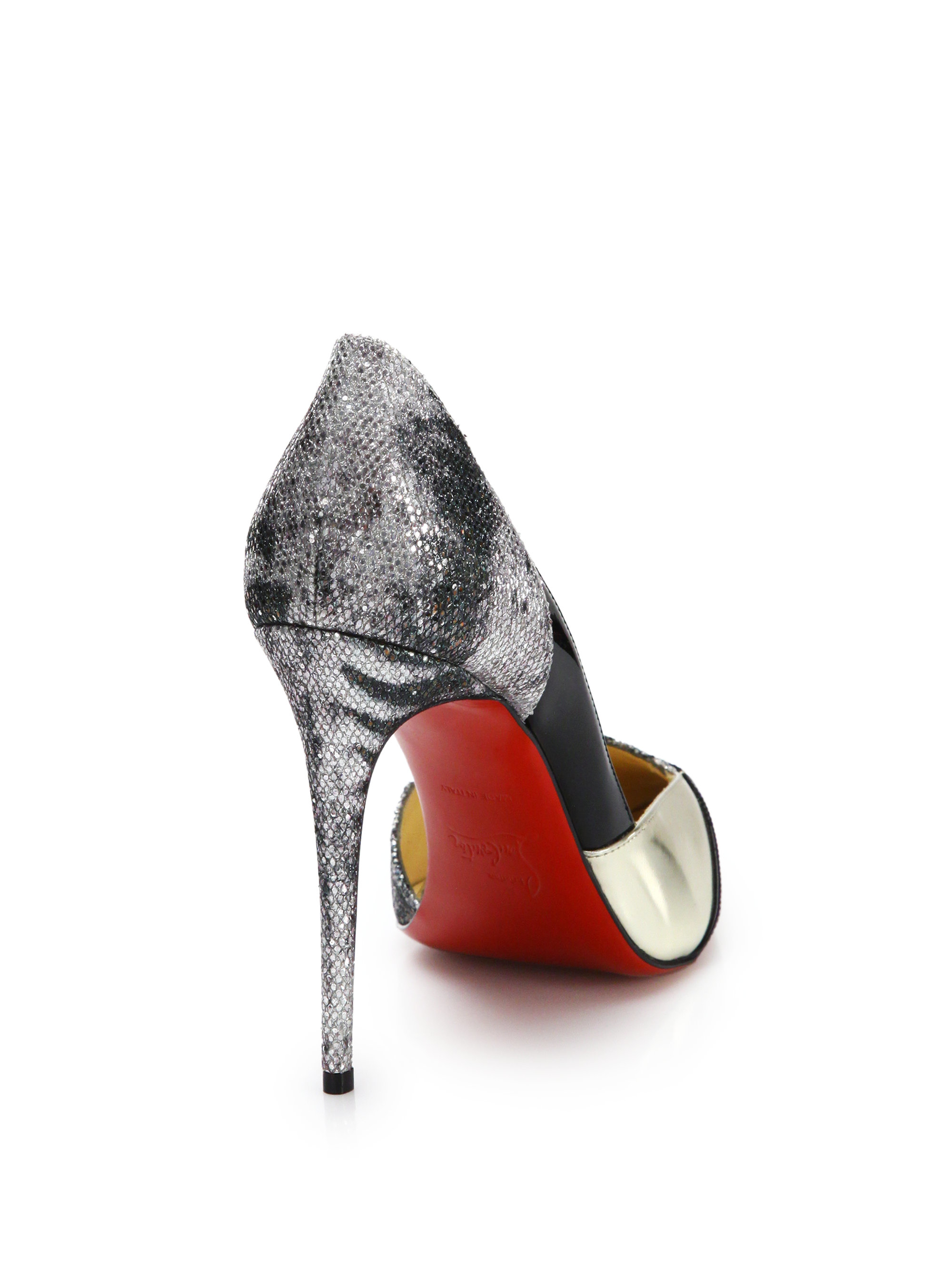 christian louboutin metallic leather d\u0026#39;Orsay pumps | Learn to Read ...