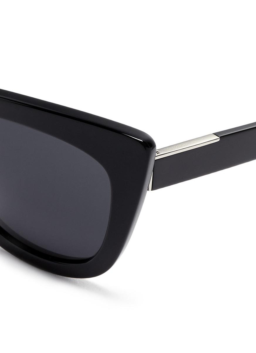 Linda Farrow Sunglasses Black Cat Eye