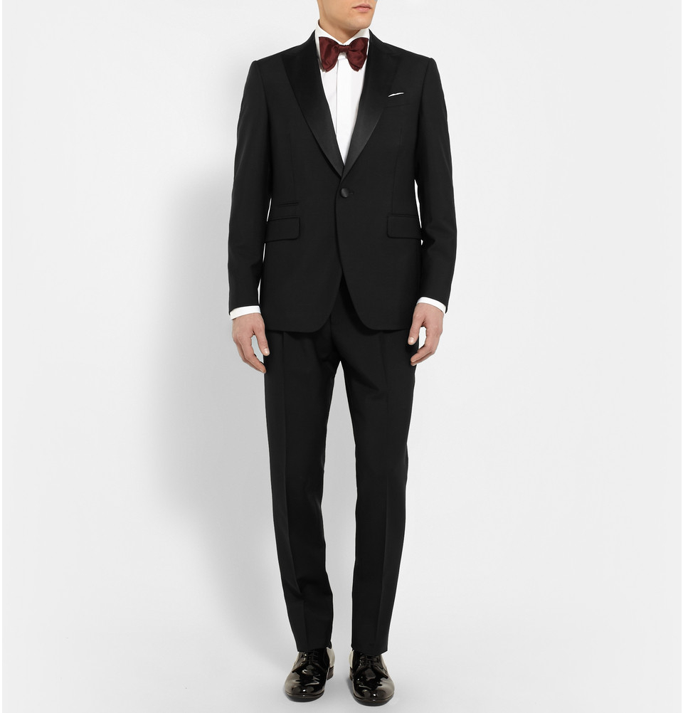 Berluti Black Slim Fit Wool And Mohair Blend Tuxedo In