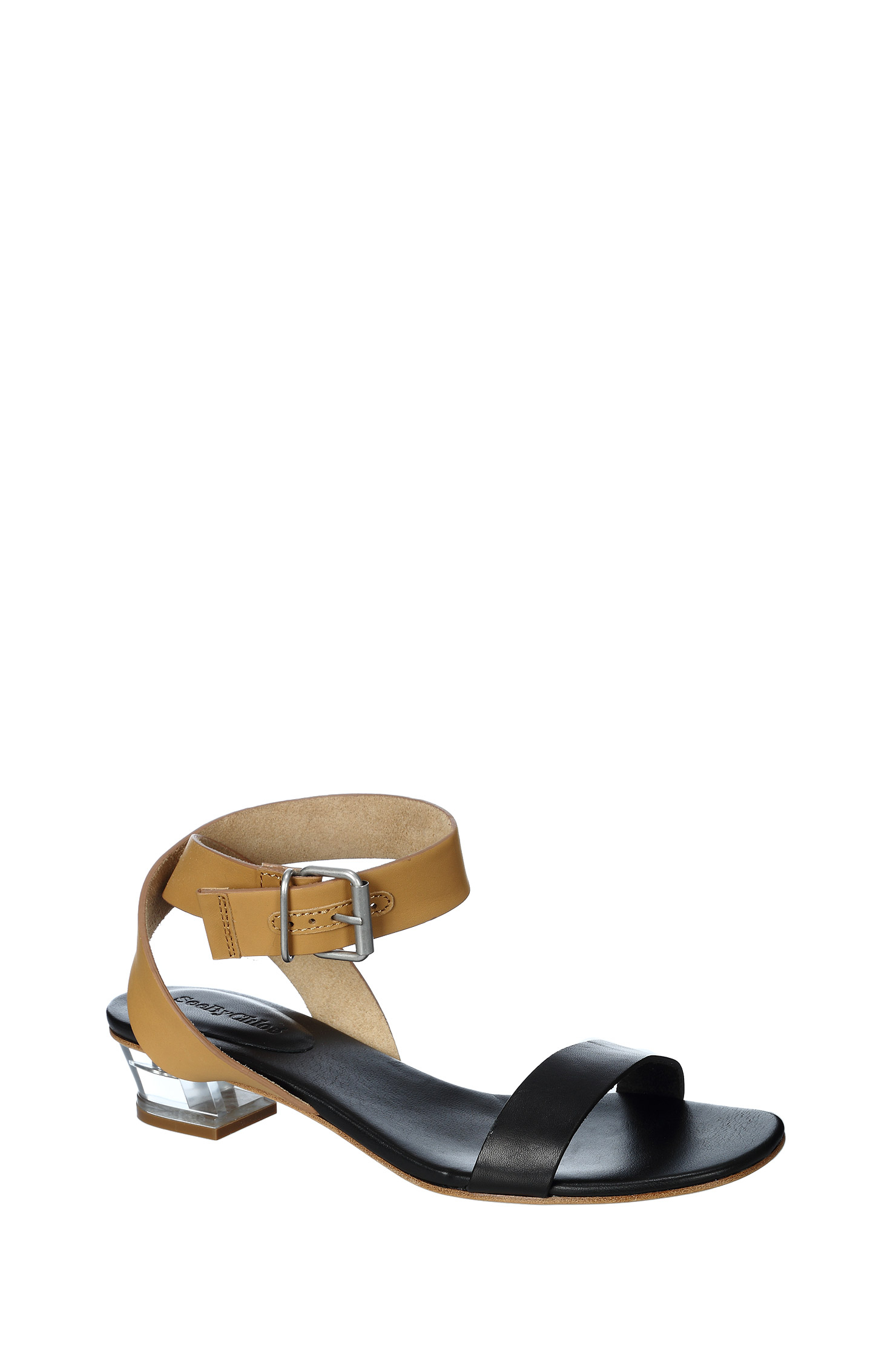see by chlo sandals shoes in khaki black lyst. Black Bedroom Furniture Sets. Home Design Ideas