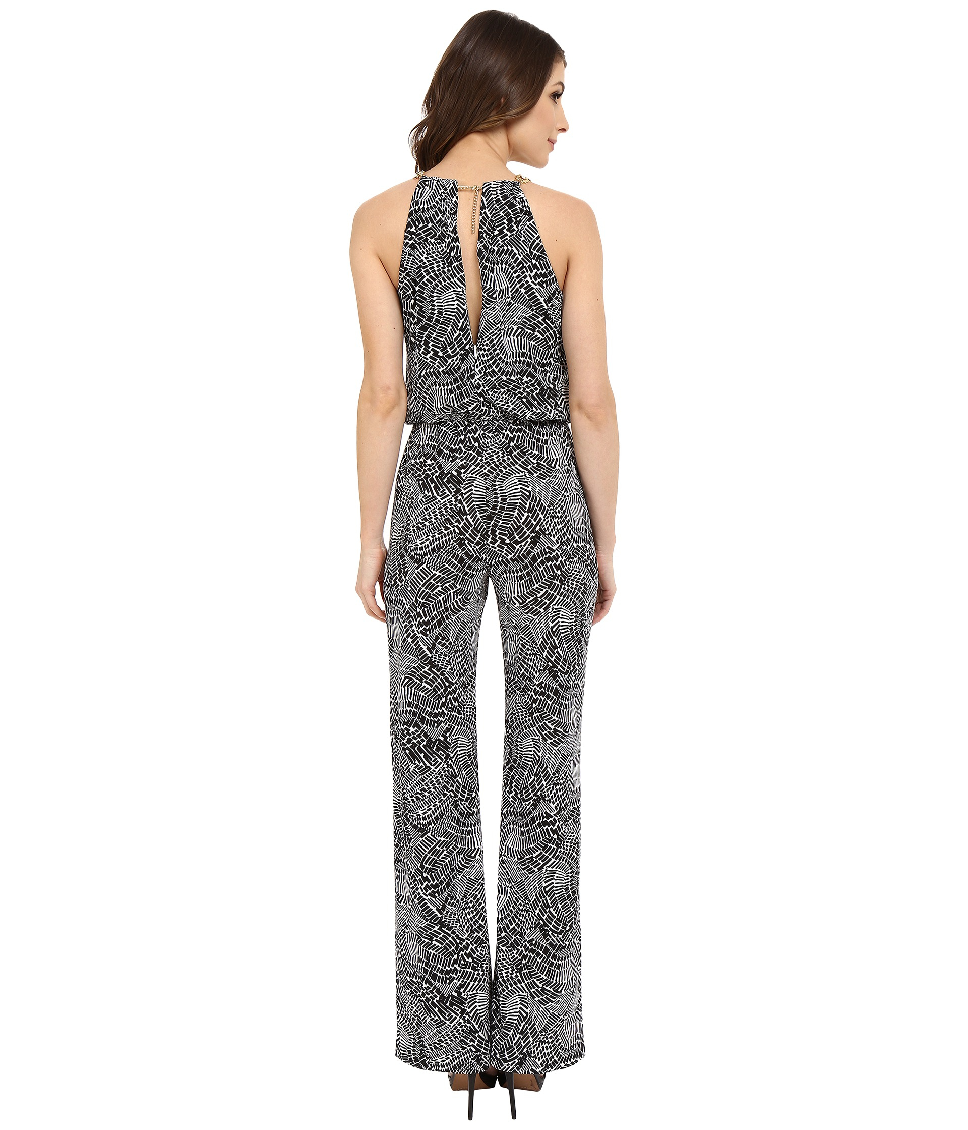 fef13a1c242 Lyst - Laundry By Shelli Segal Printed Matte Jersey Jumpsuit With ...