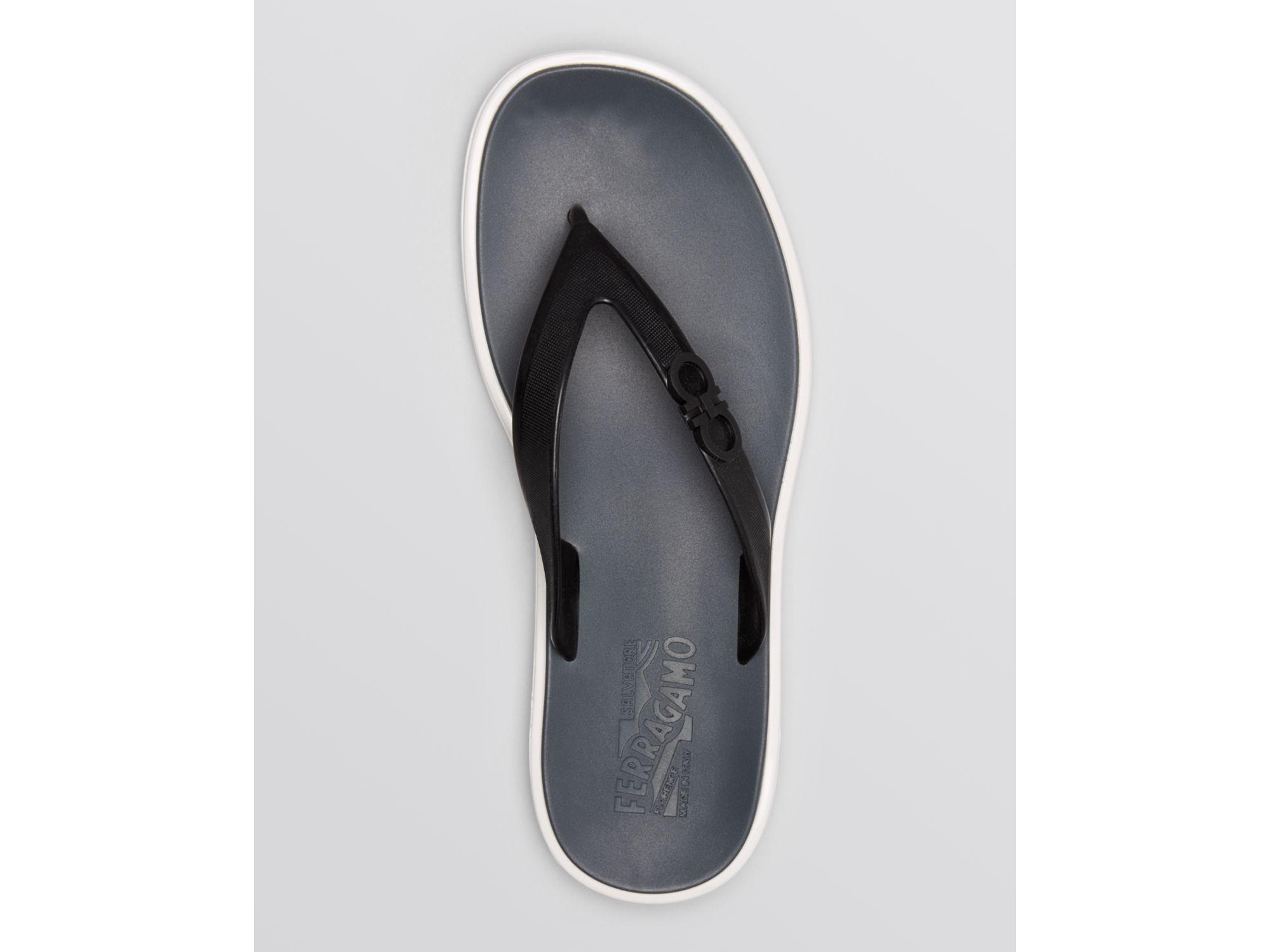 2076e499a7bb7 Lyst - Ferragamo Nizza Flip Flops in Black for Men