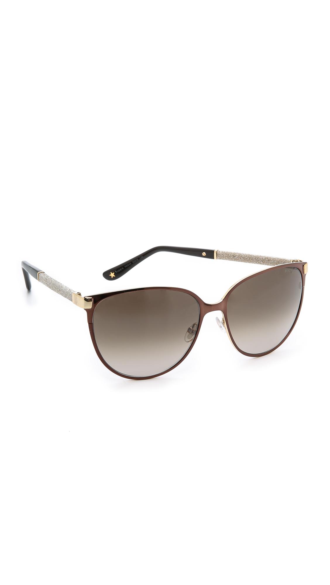 f5bd0e60fb6 Lyst - Jimmy Choo Posie Sunglasses - Ivory brown in Brown