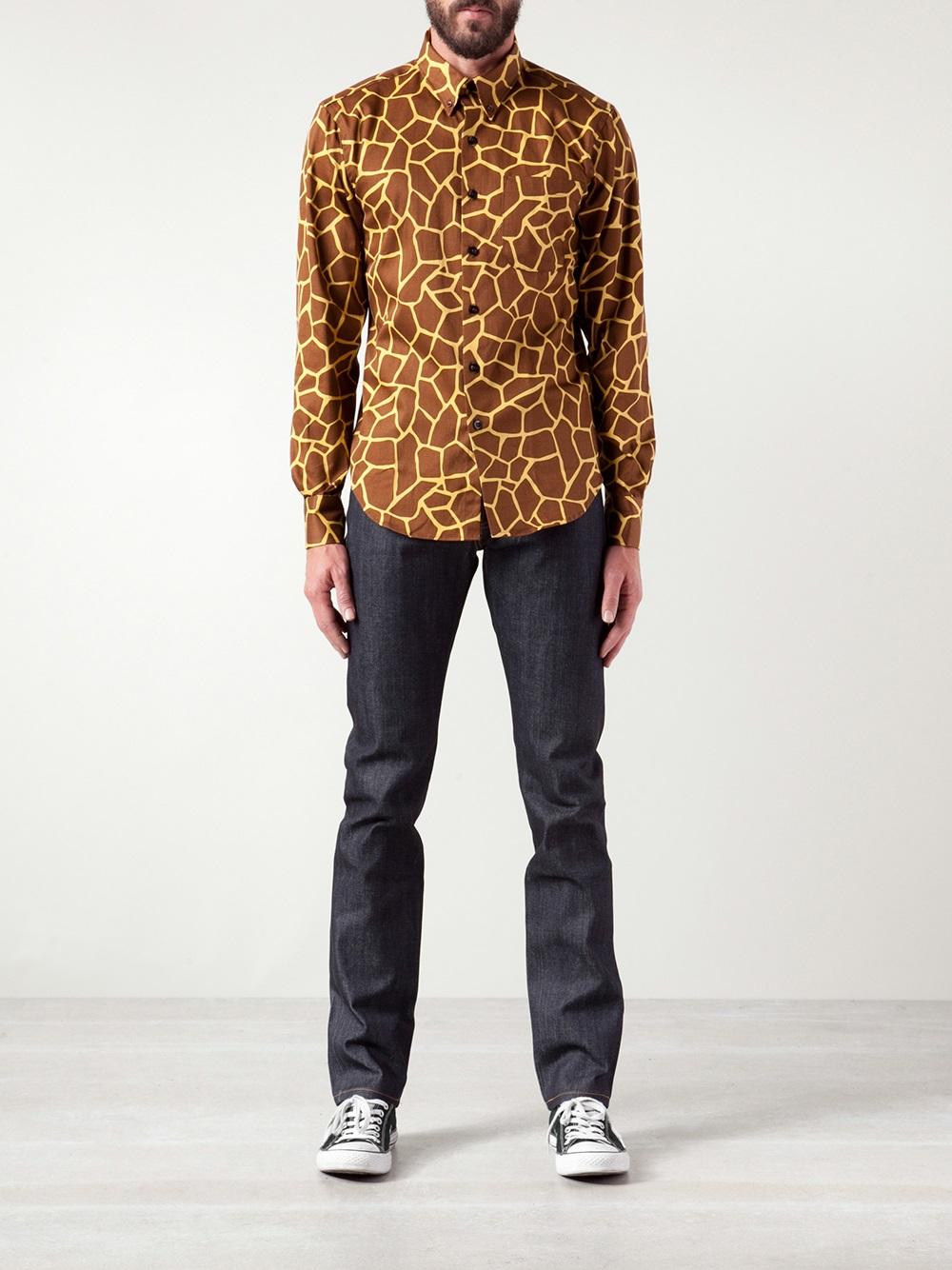 Brown Denim Jeans Men