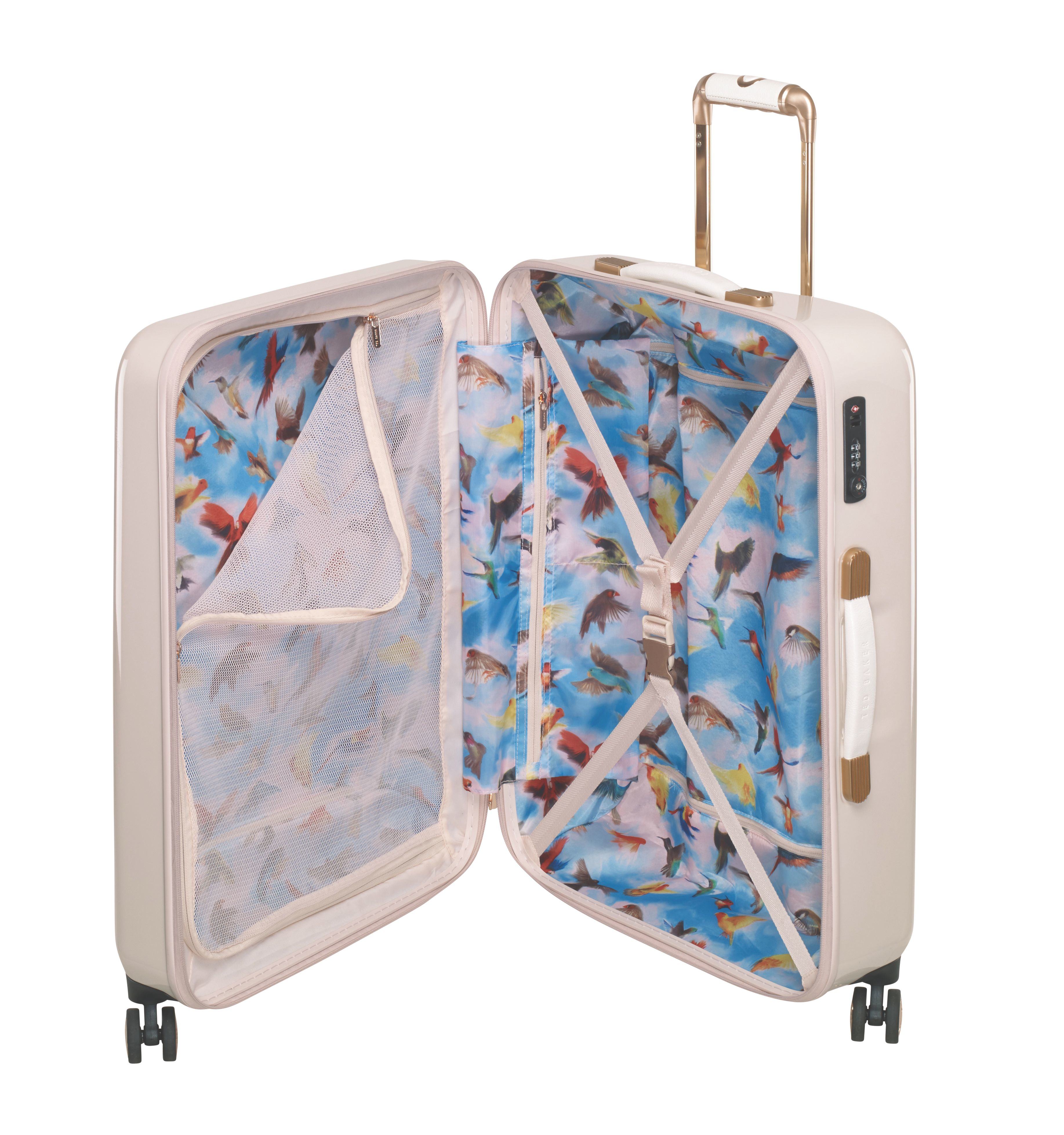 Ted baker Geo Kaleidoscope Print 4 Wheel Medium Suitcase in Pink ...