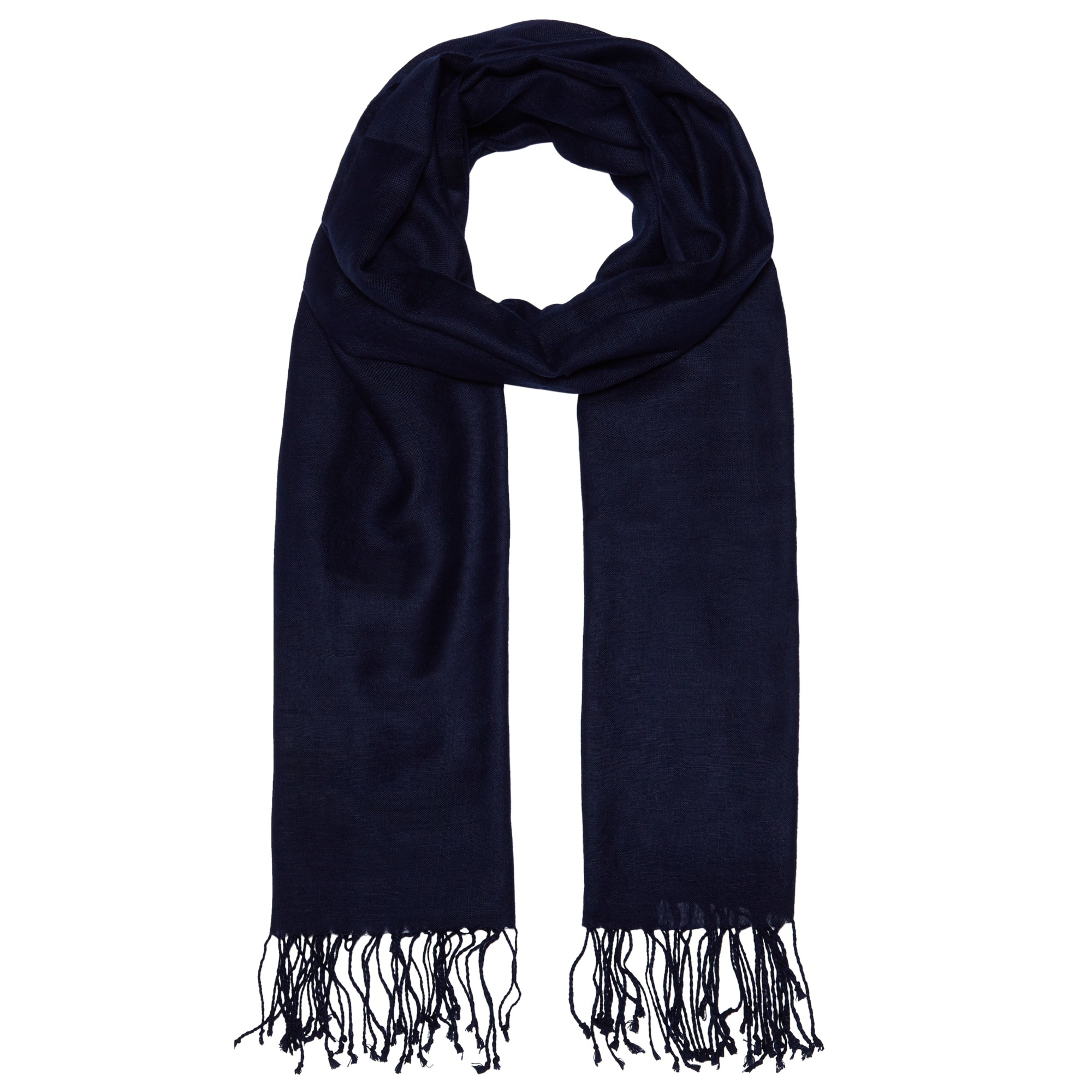 John lewis Wool Mix Occasion Scarf in Blue