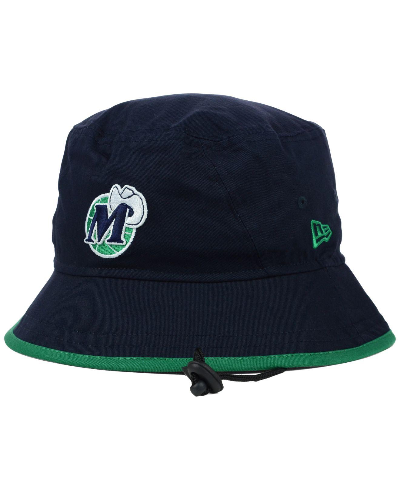 finest selection 515e4 2d7c6 KTZ Dallas Mavericks Hardwood Classics Basic Tipped Bucket Hat in ...