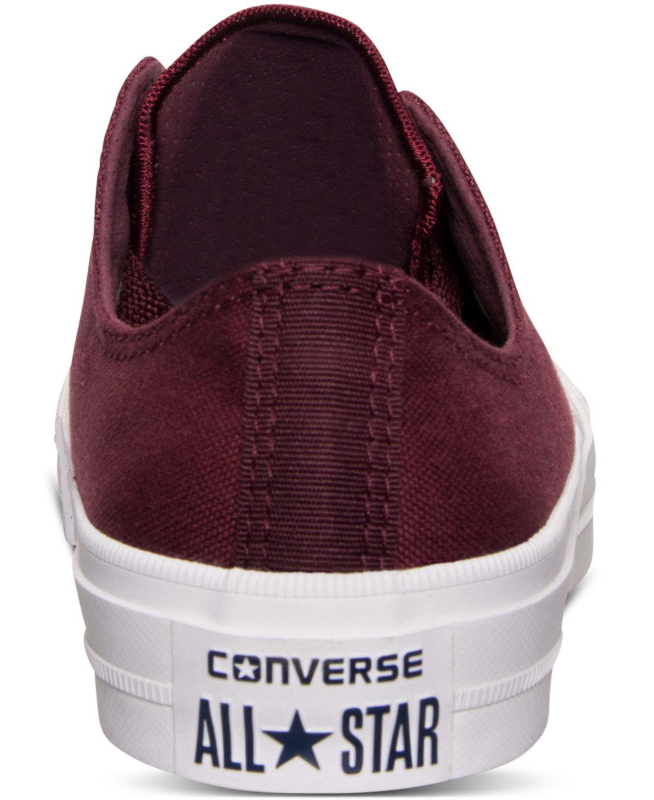 c7e2f870b8b2a5 Lyst - Converse Women s Chuck Taylor All Star Ii Ox Casual Sneakers From  Finish Line in Purple