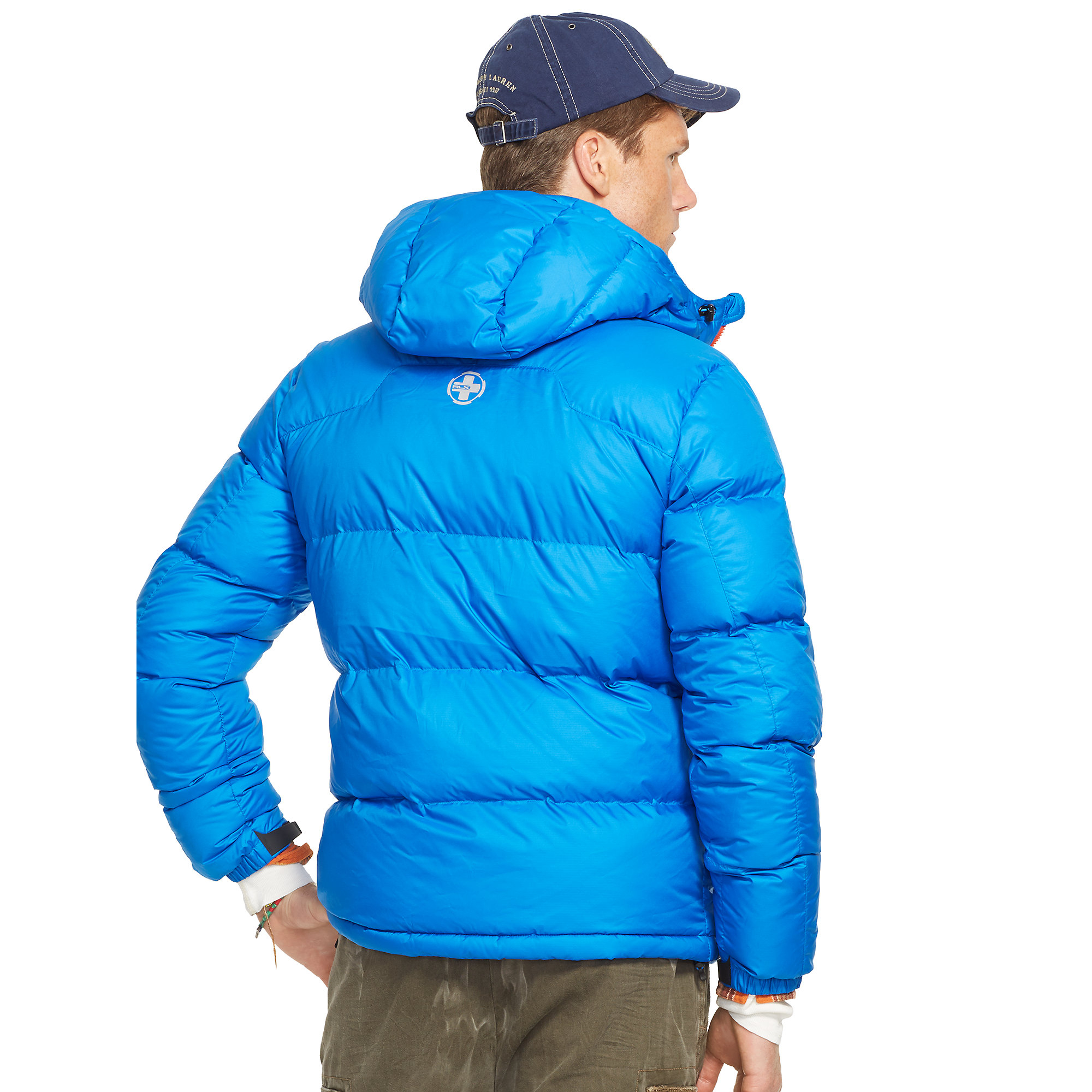 Lyst Ralph Lauren Channel Quilted Down Jacket In Blue
