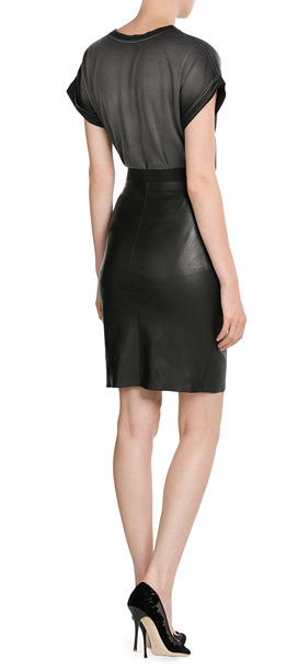 jitrois leather skirt black in black lyst