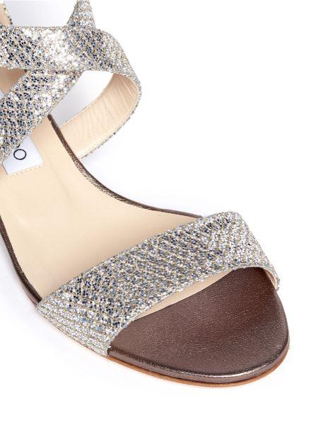 Glitter Wedge Sandal Wedge Sandals in Silver