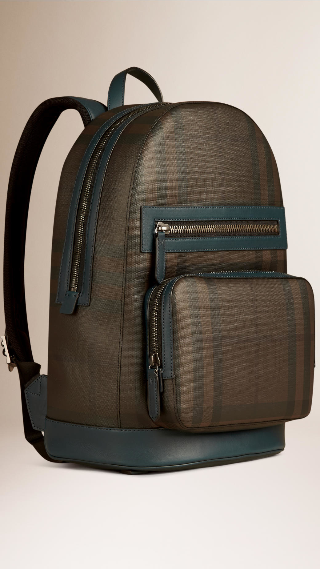 Burberry London Check Backpack in Blue for Men