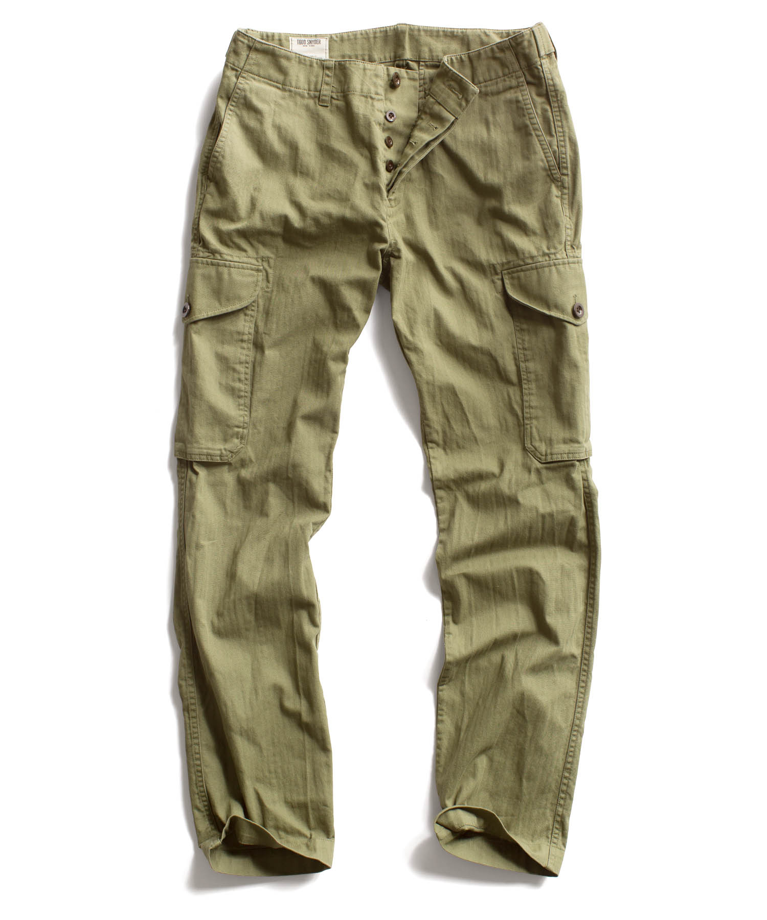 Todd Snyder Olive Infantry Cargo Pant In Green For Men
