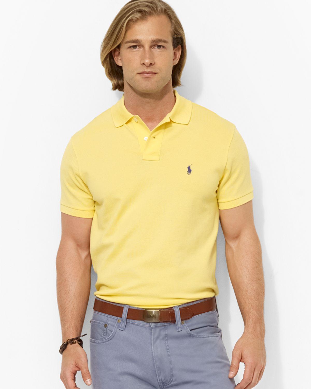 46f3523bcb04c Lyst - Ralph Lauren Polo Custom Stretchmesh Polo Shirt Slim Fit in ...