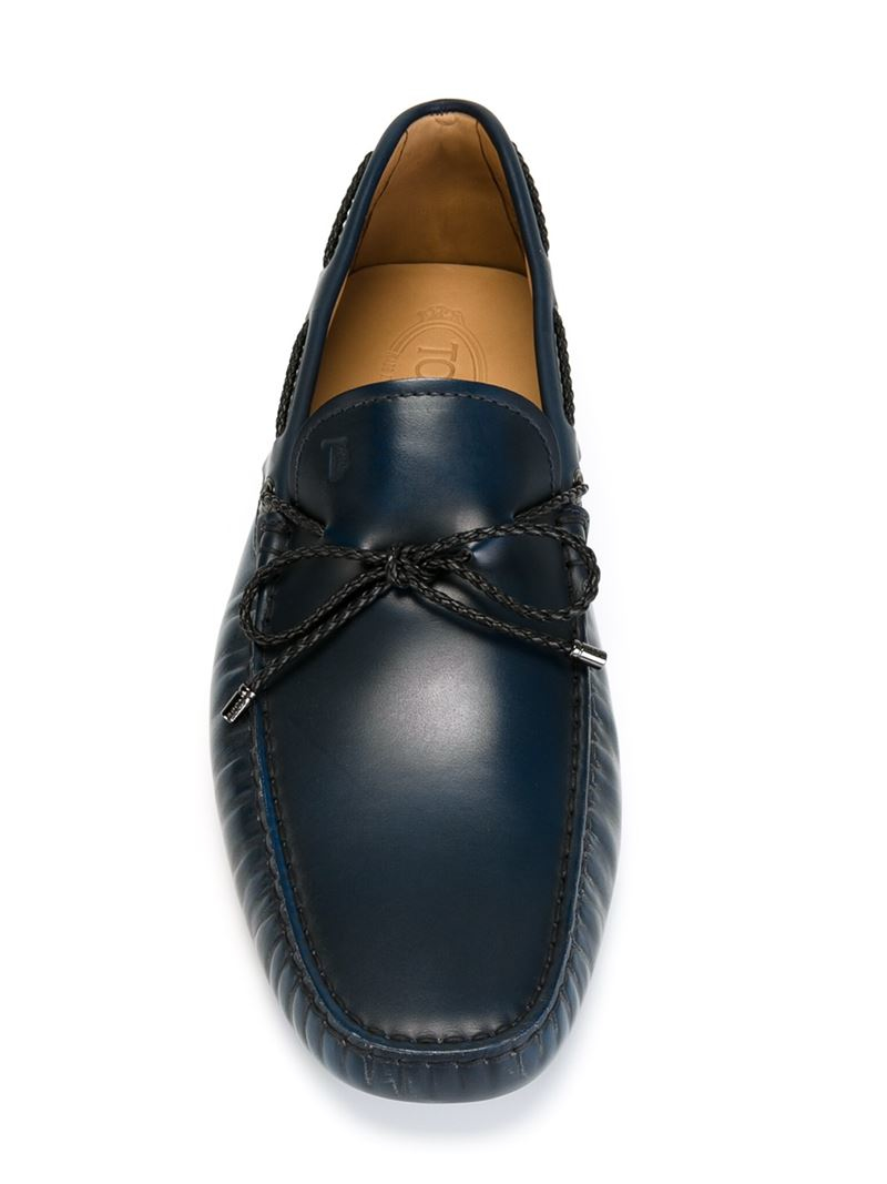 Lyst - Tod'S Classic Driving Shoes in Blue for Men