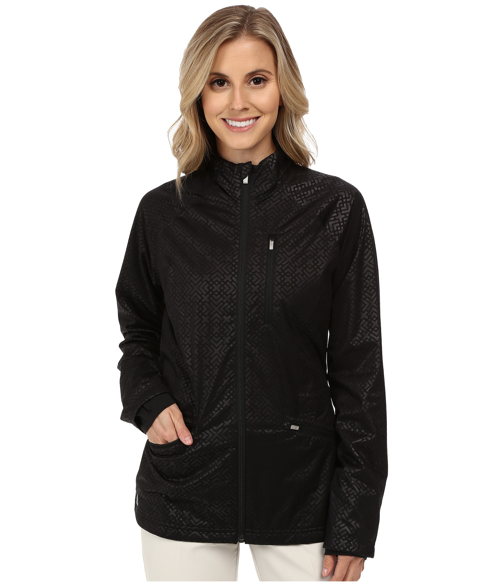 Adidas Climaproof Fashion Rain Jacket in Black | Lyst