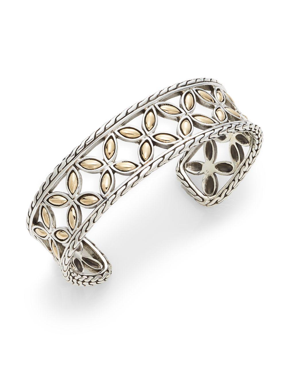 John Hardy Kawung Flower Cuff Bracelet 6aO0t9o