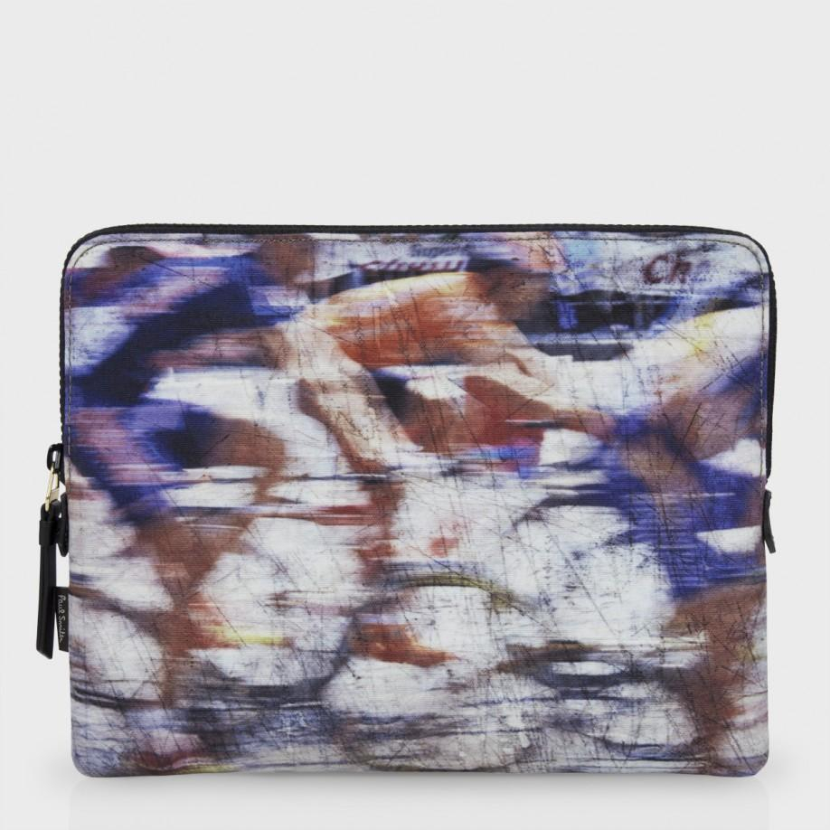 paul smith blurred cyclists print ipad case in purple for men lyst. Black Bedroom Furniture Sets. Home Design Ideas