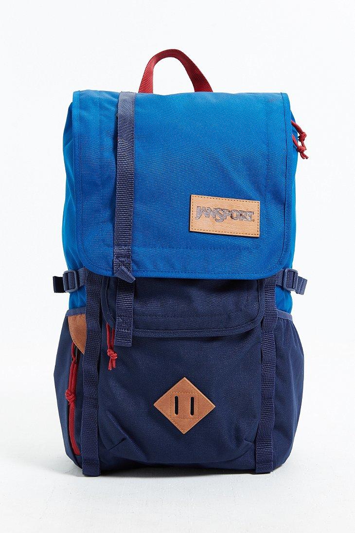 Lyst Jansport Hatchet Colorblock Backpack In Blue For Men