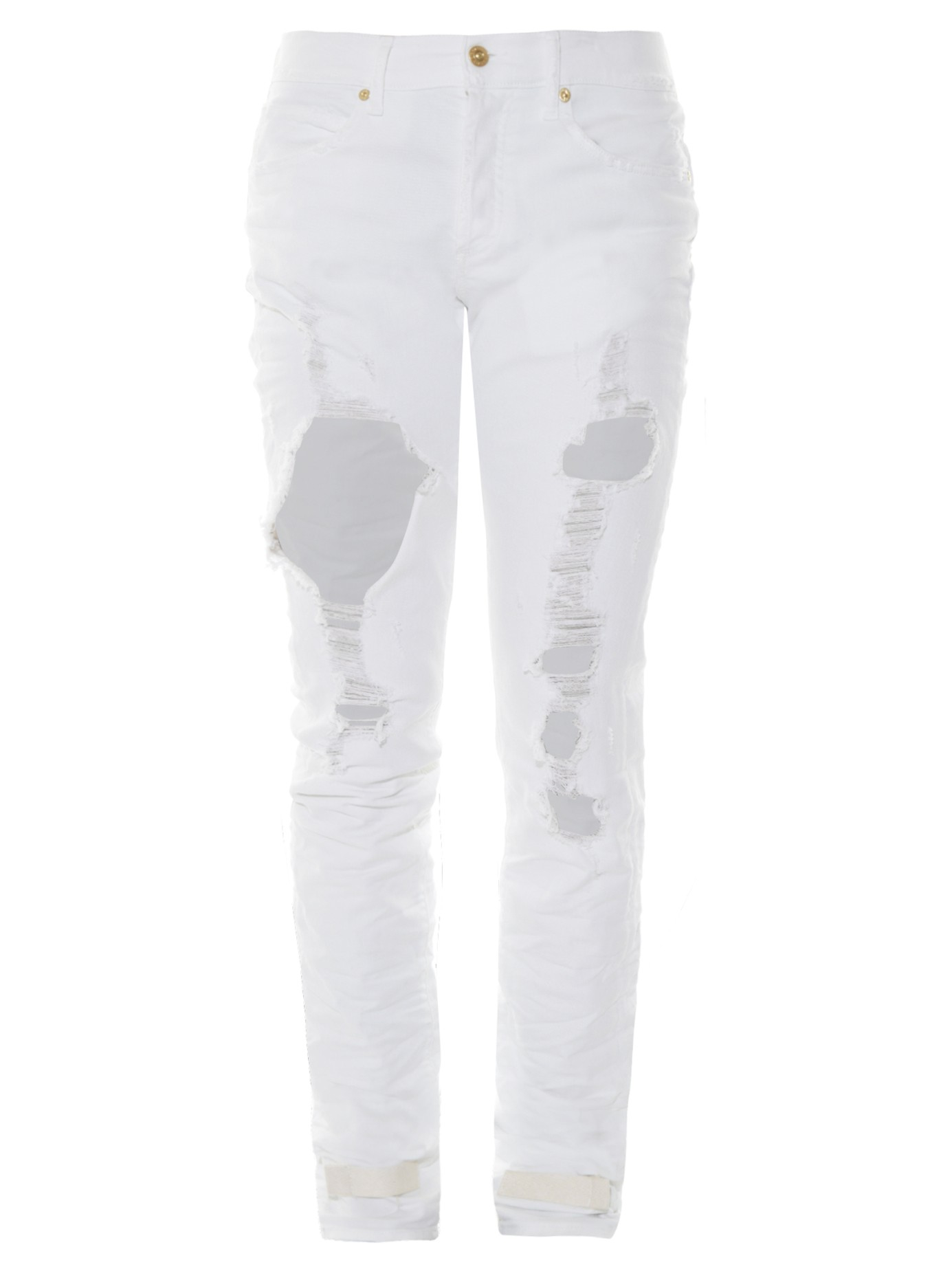 Off-white c/o virgil abloh Distressed Slim-leg Jeans in White for ...
