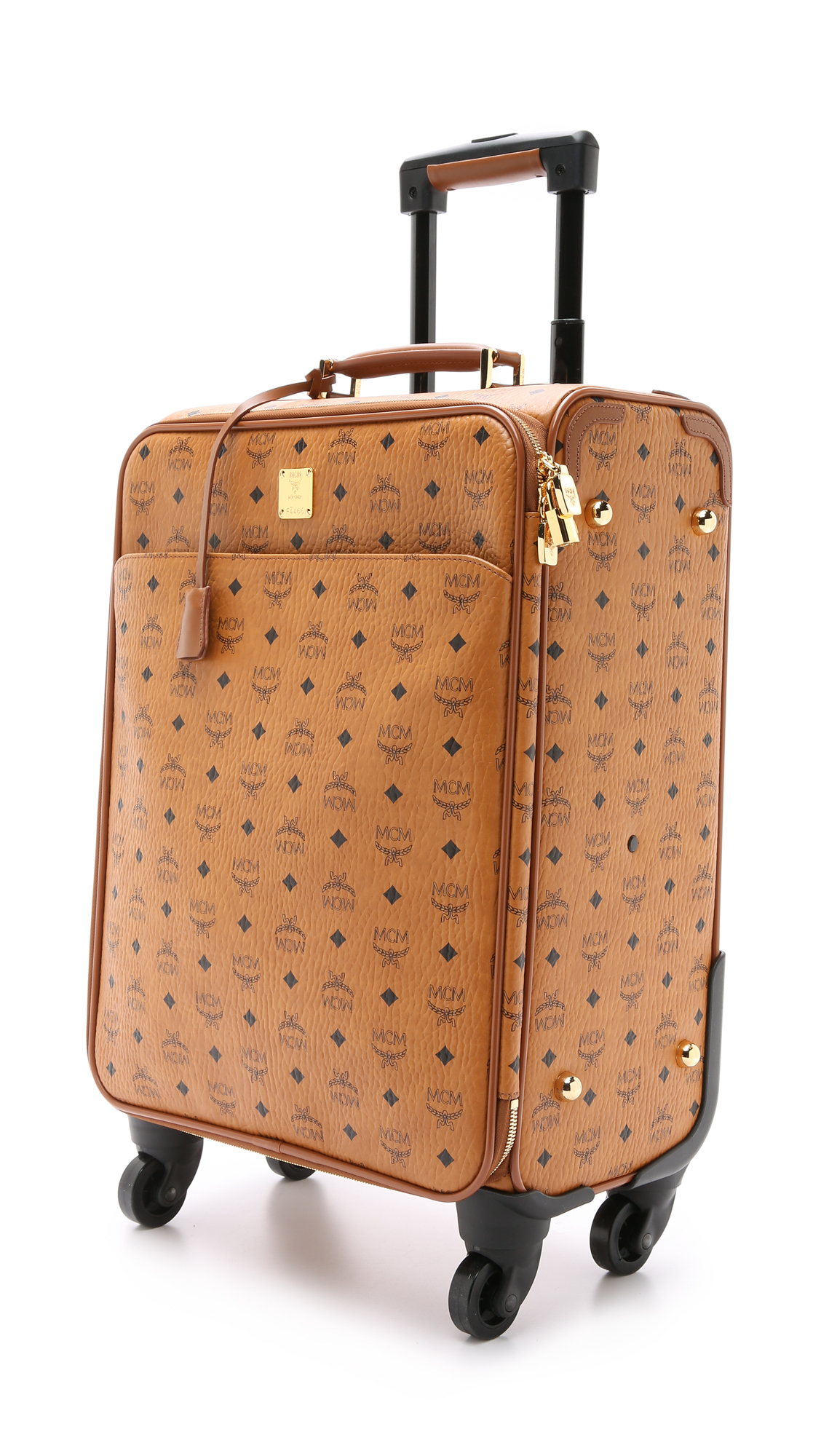MCM Trolly Cabin Luggage Case - Cognac in Brown - Lyst