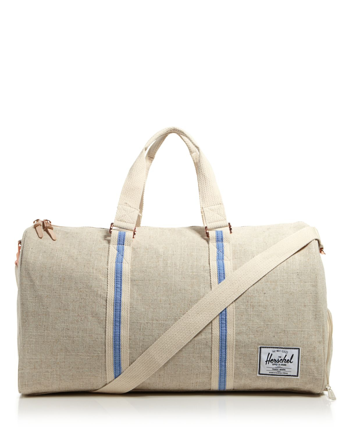 herschel supply co novel hemp collection duffel bag in beige for men natural hemp lyst. Black Bedroom Furniture Sets. Home Design Ideas