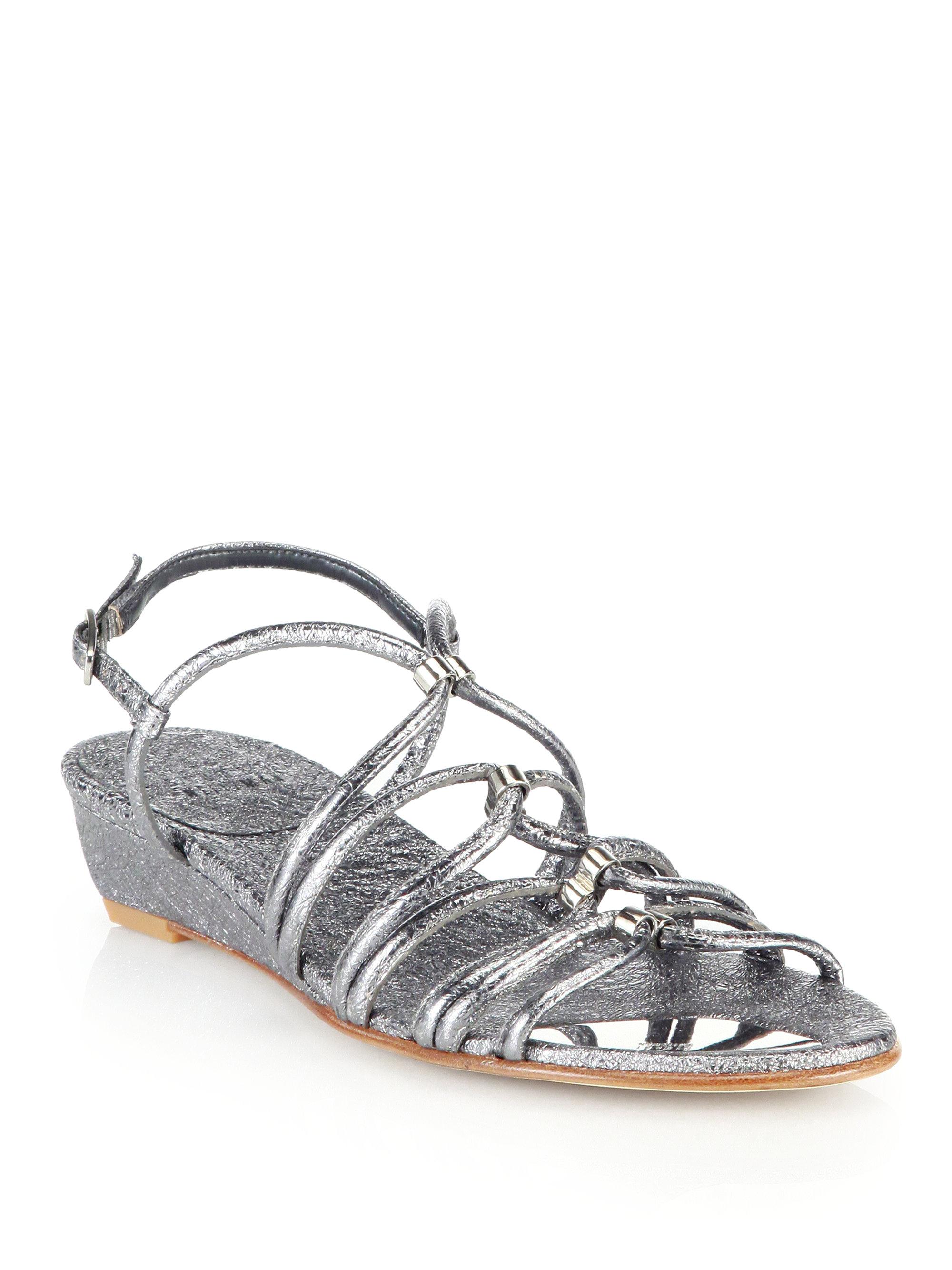 Stuart Weitzman Leather Flip Flops