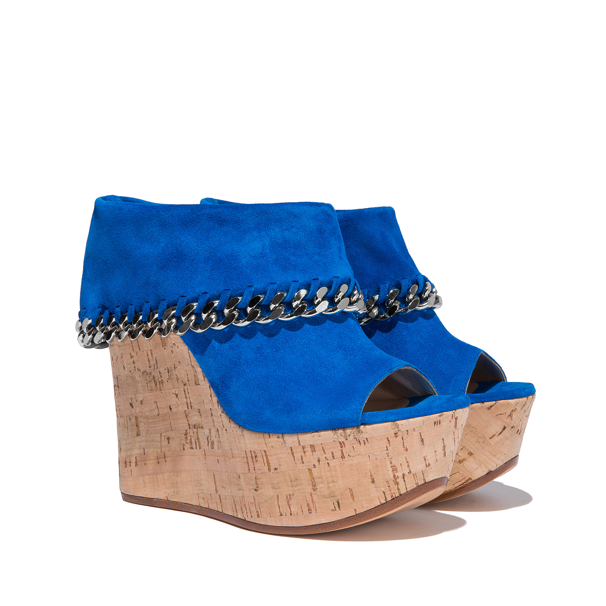 43865ade31e4 Lyst - Casadei Wedges in Blue
