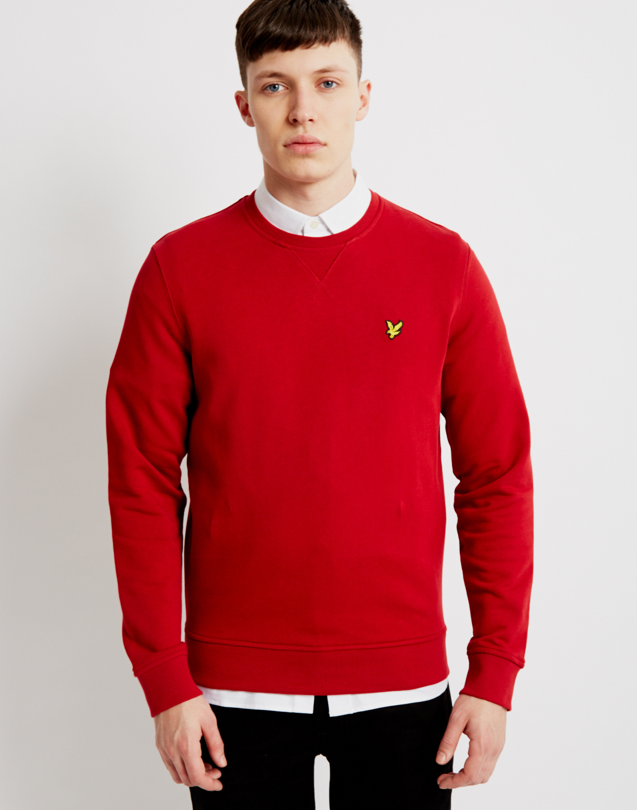 lyst lyle scott crew neck sweatshirt red in red for men. Black Bedroom Furniture Sets. Home Design Ideas
