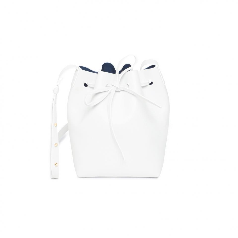 Lyst Mansur Gavriel Mini Bucket Bag In White