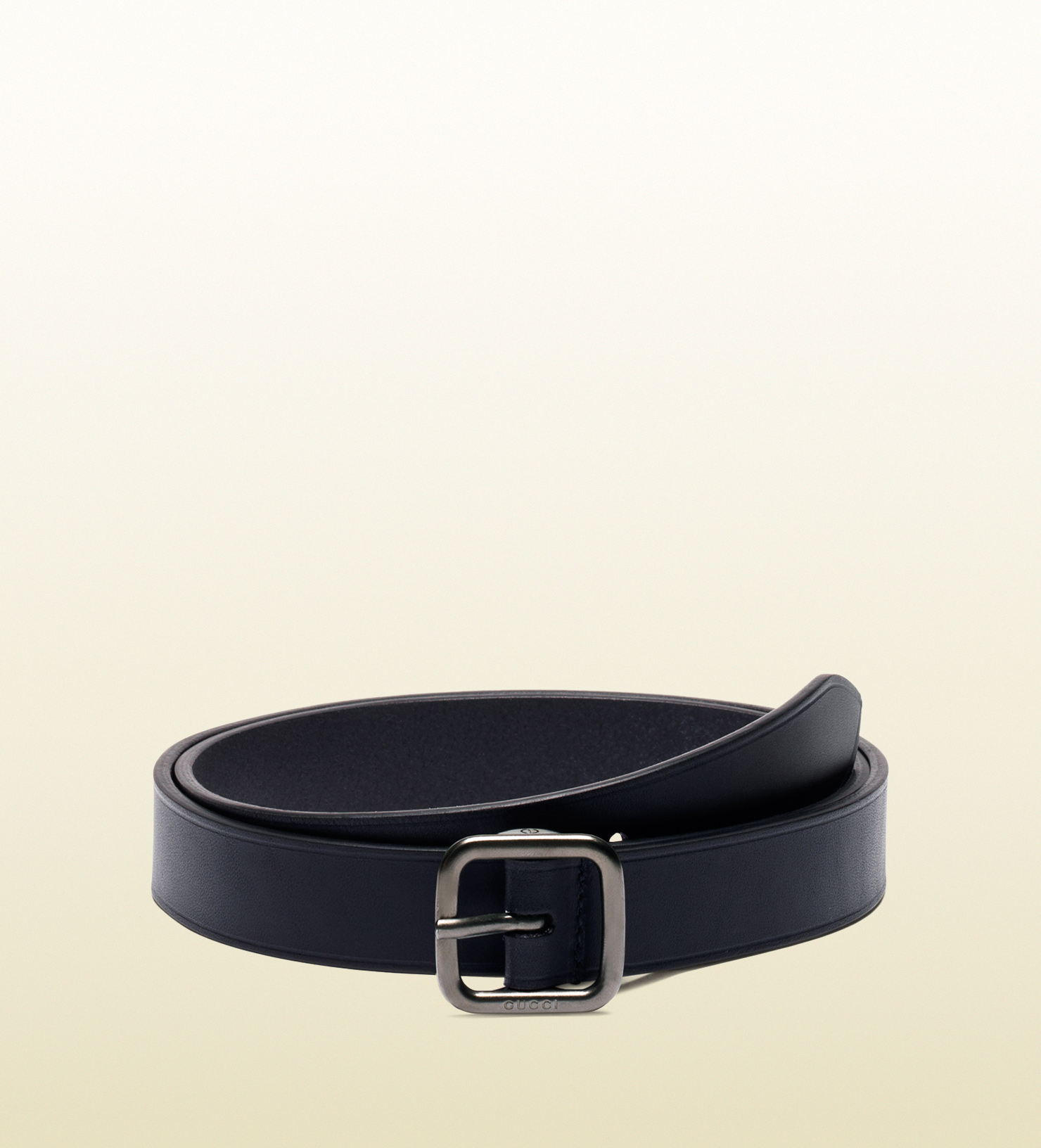 91c176c73bd Lyst - Gucci Leather Belt With Square Buckle in Blue for Men