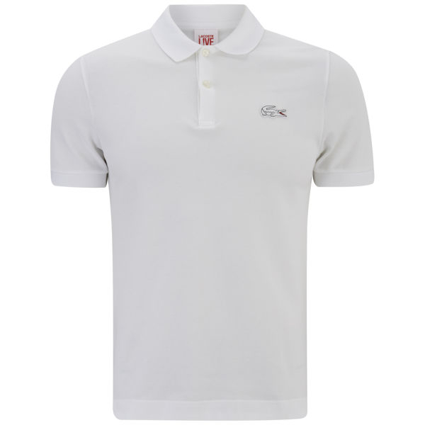 lacoste mens short sleeve ribbed collar polo shirt in. Black Bedroom Furniture Sets. Home Design Ideas