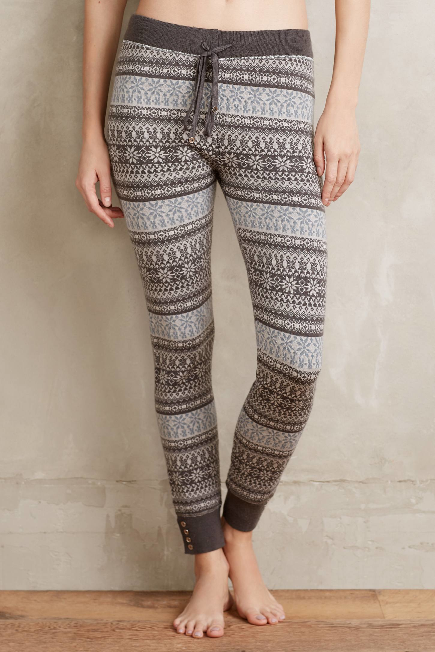 Saturday/sunday Fairisle Sweater Leggings in Gray | Lyst