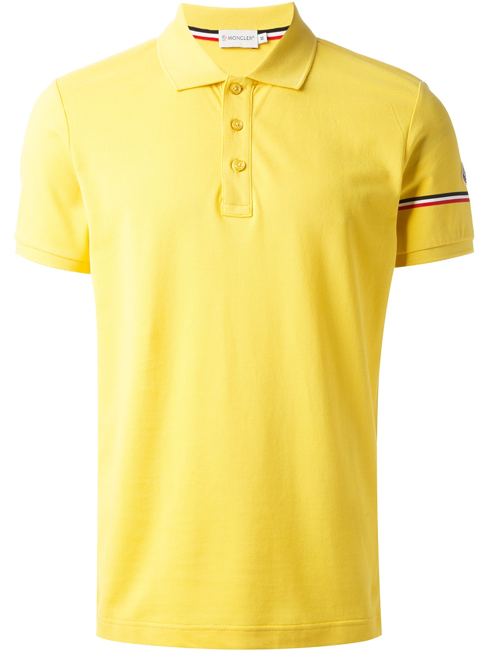 yellow moncler t shirt