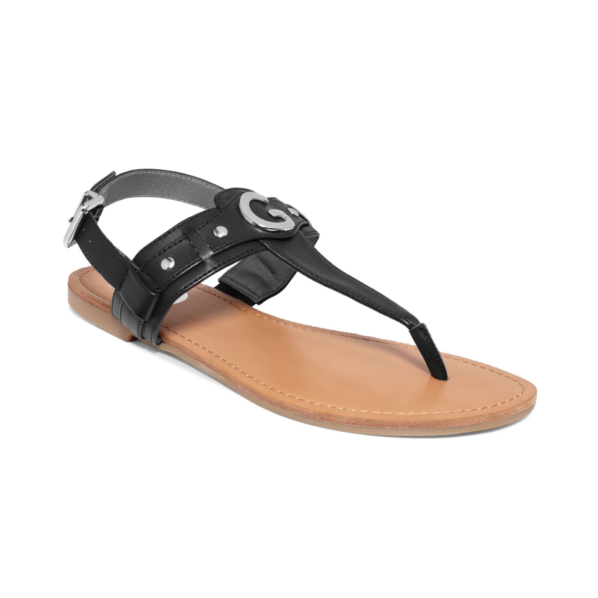 61e6cd24399 Lyst - G by Guess Womens Lundon Flat Thong Sandals in Black