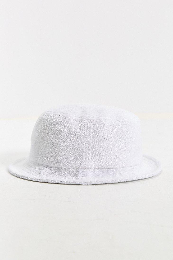 fe64e6f341ef7 Stussy Terry Stock Lock Bucket Hat in White for Men - Lyst
