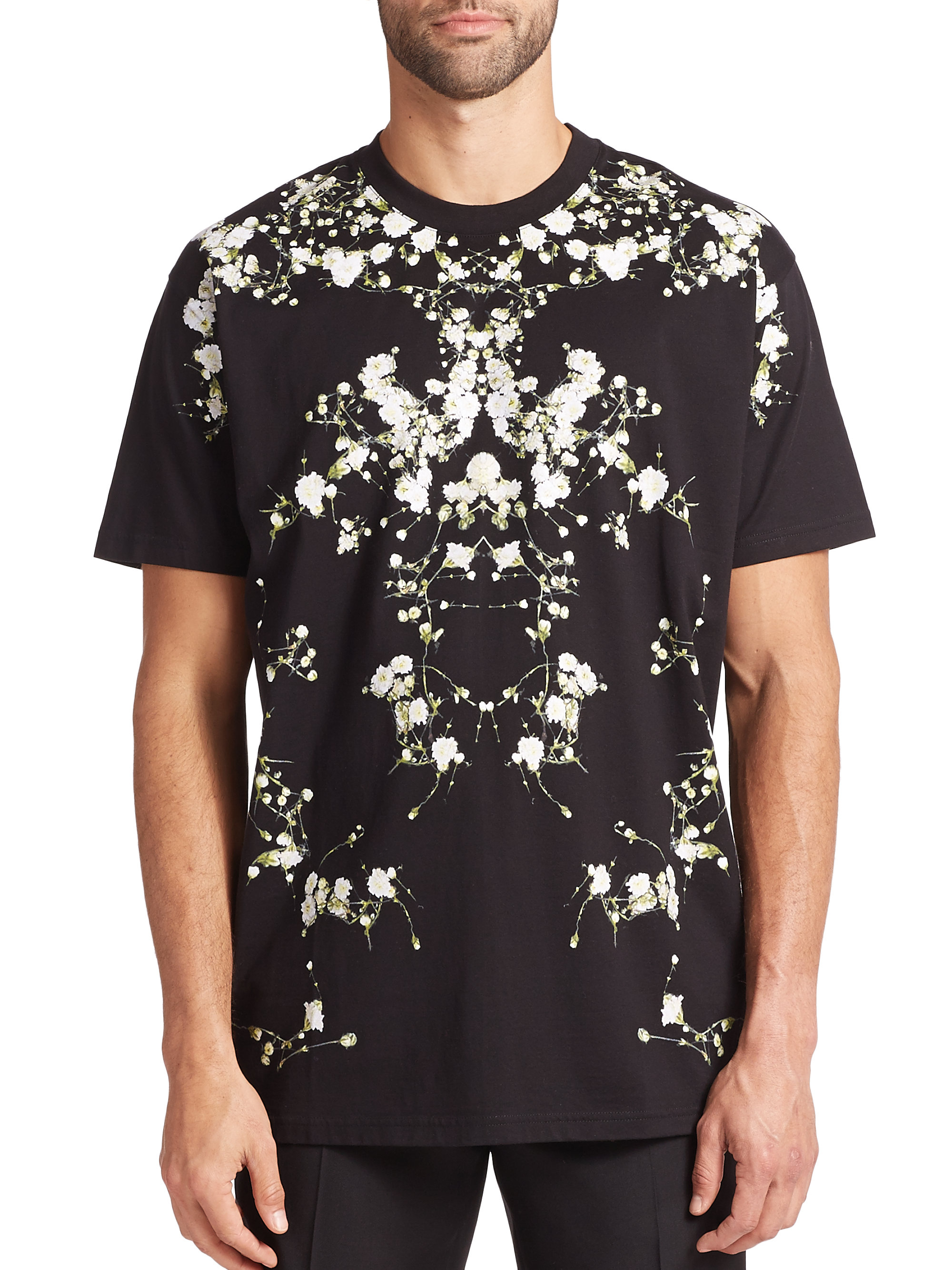Givenchy Floral T Shirt In Black For Men Lyst