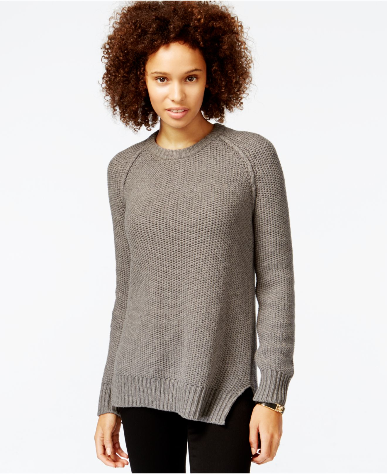 Rachel rachel roy Long-sleeve Open-back Sweater in Gray | Lyst