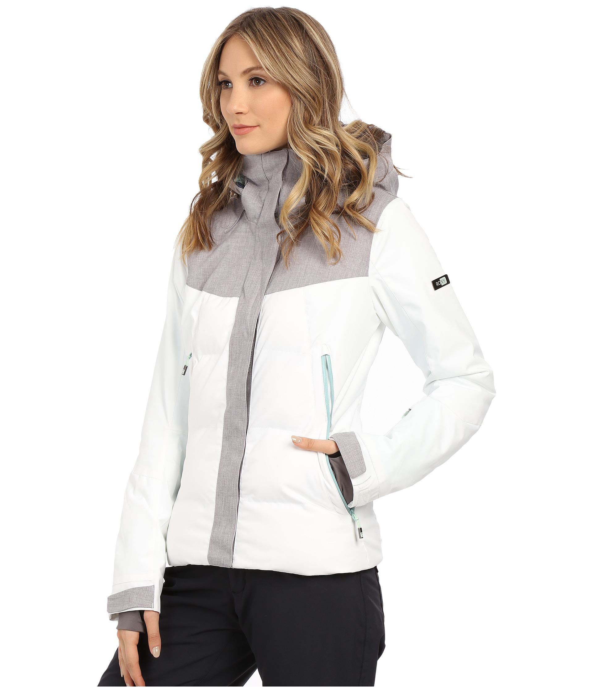 Lyst - Roxy Flicker Snow Jacket in White 7ecfb6f8a
